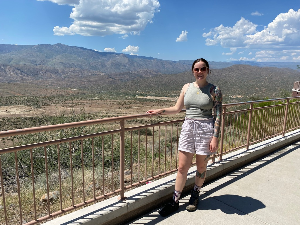 Overlook at a rest stop on I-17.
