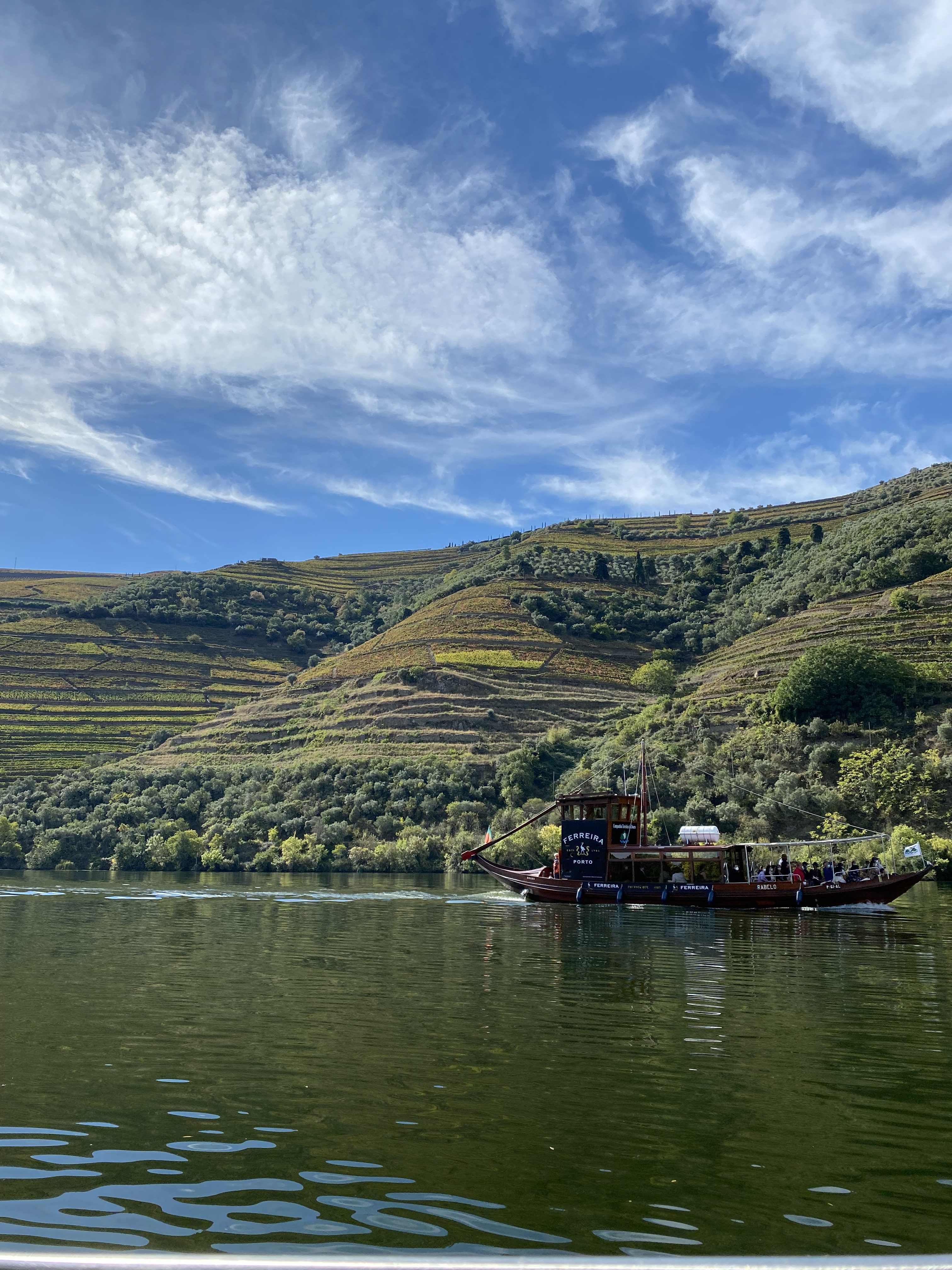 Rabelo boat on the Douro River near Pinhao